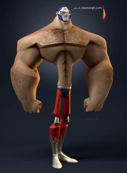 vincentdromart,بدنساز,کارتونی سه بعدی