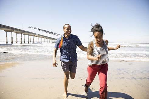 دويدن کنار ساحل