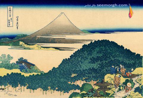 ,درختان صنوبر مدور Aoyama , Katsushika Hokusai
