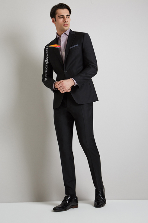 کت و شلوار دامادی 2018 زغالی به پیشنهاد مجله مد Brides,کت و شلوار,کت و شلوار دامادی,انتخاب کت و شلوار,انتخاب کت و شلوار دامادی,جدیدترین مدل کت و شلوار,جدیدترین مدل کت و شلوار دامادی
