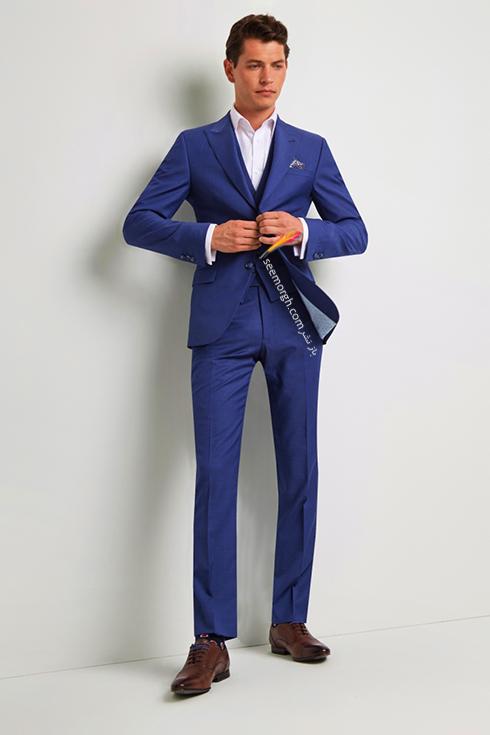 کت و شلوار دامادی 2018 آبی کاربنی روشن به پیشنهاد مجله مد Brides,کت و شلوار,کت و شلوار دامادی,انتخاب کت و شلوار,انتخاب کت و شلوار دامادی,جدیدترین مدل کت و شلوار,جدیدترین مدل کت و شلوار دامادی