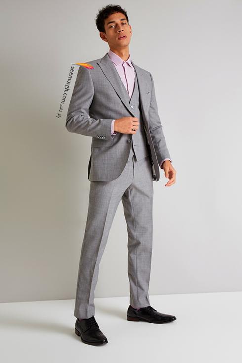 کت و شلوار دامادی 2018 طوسی روشن طرح دار به پیشنهاد مجله مد Brides,کت و شلوار,کت و شلوار دامادی,انتخاب کت و شلوار,انتخاب کت و شلوار دامادی,جدیدترین مدل کت و شلوار,جدیدترین مدل کت و شلوار دامادی