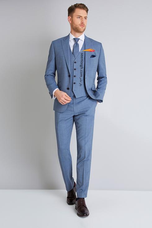 کت و شلوار دامادی 2018 طوسی آبی به پیشنهاد مجله مد Brides,کت و شلوار,کت و شلوار دامادی,انتخاب کت و شلوار,انتخاب کت و شلوار دامادی,جدیدترین مدل کت و شلوار,جدیدترین مدل کت و شلوار دامادی