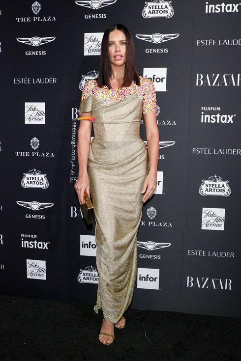 مدل لباس,مدل لباس در میهمانی مجله مد هارپر بازار,میهمانی مجله هارپربازار,آدریانا لیما,مدل لباس در میهمانی مجله مد هارپربازار Harpersbazaar - آدریانا لیما Adriana Lima