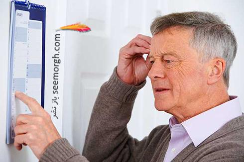 پیرمرد در حال فکر کردن,مغز مه آلود