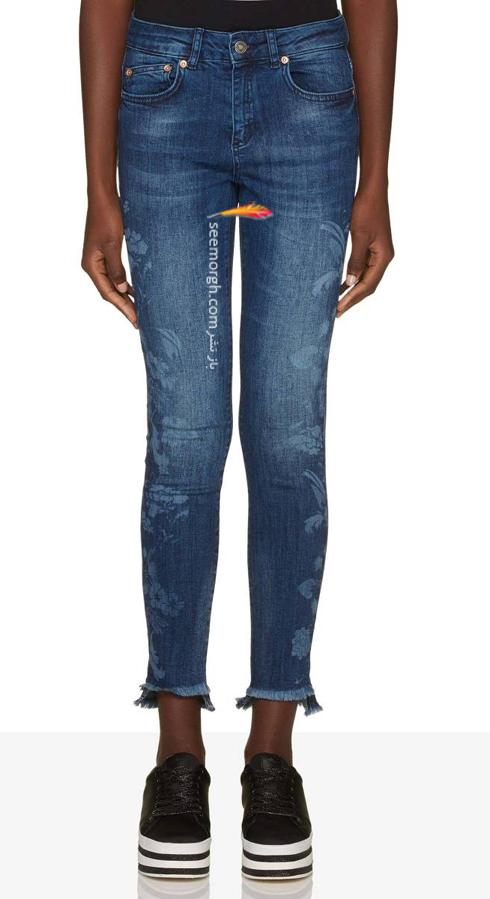 شلوار جین,شلوار جین بنتون,شلوار جین زنانه,بنتون,کلکسیون شلوار جی زنانه بنتون,شلوار جین زنانه بنتون Benetton برای پاییز 2018 - شلوار جین طرح دار