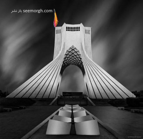 عکاسی سیاه و سفید,میدان آزادی تهران,mrafiee