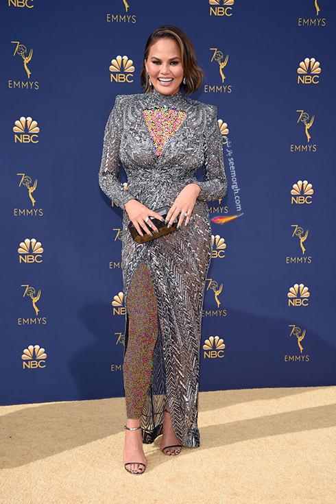 مدل لباس,مدل لباس در جوایز امی 2018,مدل لباس در جایزه امی 2018,بهترین مدل لباس در جایزه امی 2018,مدل لباس در جایزه امی  2018 Emmy - کریسی تیگن Chrissy Teigen