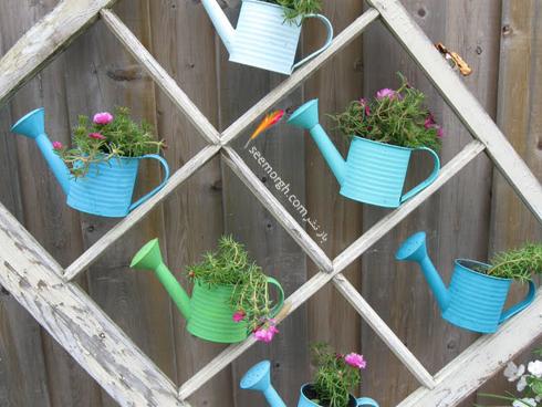 با پنچره قدیمی یک گلخانه عمودی درست کنید,استفاده از پنجره های قدیمی در دکوراسیون داخلی