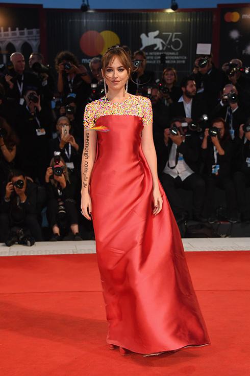 داکوتا جوهانسون Dakota Johnson در جشنواره فیلم ونیز 2018 Venice Film Festival,جشنواره فیلم وینز,جشنواره ونیز,مدل لباس,مدل لباس در جشنواره ونیز,مدل لباس در جشنواره فیلم ونیز