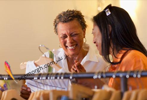 عکس دو زن در حال خندیدن,کاهش استرس