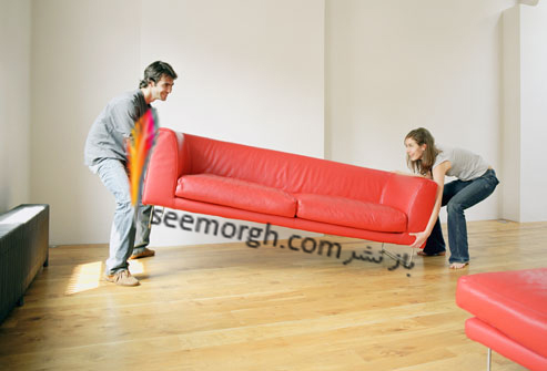 جابه جا کردن کاناپه,بلند کردن کاناپه