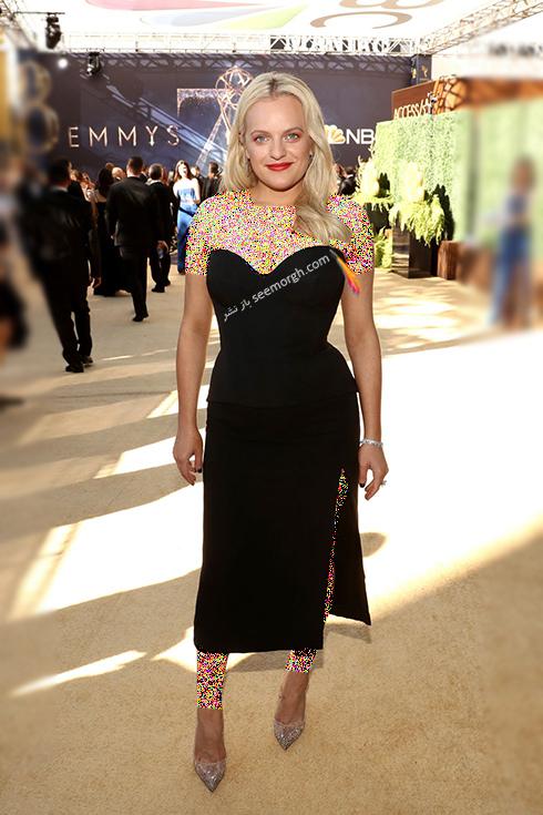 مدل لباس,مدل لباس در جوایز امی 2018,مدل لباس در جایزه امی 2018,بهترین مدل لباس در جایزه امی 2018,مدل لباس در جایزه امی  2018 Emmy - الیزابت ماس Elisabeth Moss
