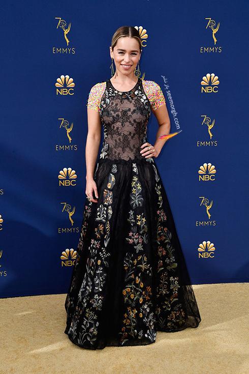 مدل لباس,مدل لباس در جوایز امی 2018,مدل لباس در جایزه امی 2018,بهترین مدل لباس در جایزه امی 2018,مدل لباس در جایزه امی  2018 Emmy - امیلی کلارک Emilia Clarke