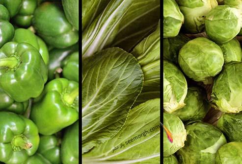سبزیجات منبع ویتامین ث