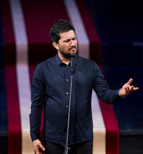 صحبت کردن حامد بهداد در جشن خانه سینما