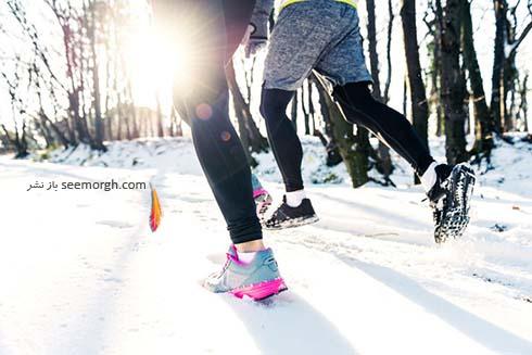 ورزش در برف،پیاده روی در هوای سرد