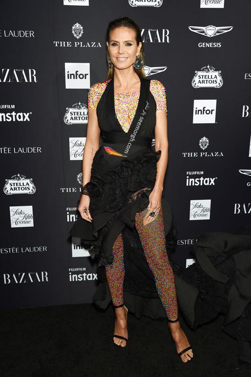 مدل لباس,مدل لباس در میهمانی مجله مد هارپر بازار,میهمانی مجله هارپربازار,مدل لباس در میهمانی مجله مد هارپربازار Harpersbazaar - هایدی کلوم Heidi klum