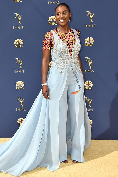 مدل لباس,مدل لباس در جوایز امی 2018,مدل لباس در جایزه امی 2018,بهترین مدل لباس در جایزه امی 2018,مدل لباس در جایزه امی  2018 Emmy - ایسا رای Issa Rae