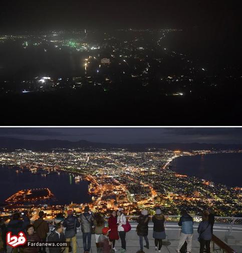 منطقه هوکایدو ژاپن قبل و پس از زلزله