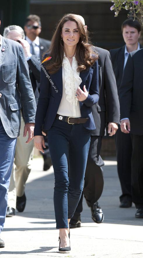 کت و شلوار,کت و شلوار کیت میدلتون,بهترین مدل کت و شلوار کیت میدلتون,بهترین مدل کت و شلوار کیت میدلتون Kate Middleton - کت و شلوار سورمه ای