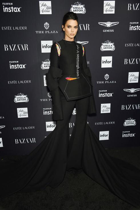مدل لباس,مدل لباس در میهمانی مجله مد هارپر بازار,میهمانی مجله هارپربازارمدل لباس در میهمانی مجله مد هارپربازار Harpersbazaar - کندال جنر Kendall Jenner