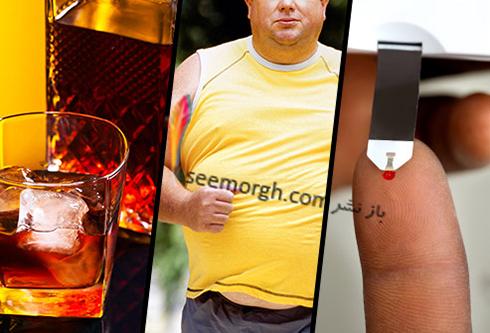 الکل,چاقی,دیابت
