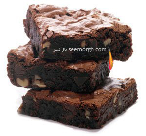 شیرینی برونی,شیرینی برونی,شیرینی برونی گردو و شکلات,طرز تهیه شیرینی برونی گردو و شکلات