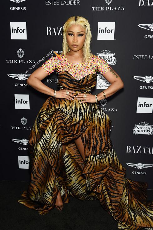مدل لباس,مدل لباس در میهمانی مجله مد هارپر بازار,میهمانی مجله هارپربازار,آدریانا لیما,مدل لباس در میهمانی مجله مد هارپربازار Harpersbazaar - نیکی میناژ Nicki Minaj