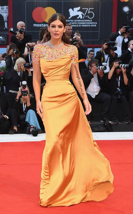 نائومی بناتی Nima Benati در جشنواره فیلم ونیز 2018 Venice Film Festival,جشنواره فیلم وینز,جشنواره ونیز,مدل لباس,مدل لباس در جشنواره ونیز,مدل لباس در جشنواره فیلم ونیز