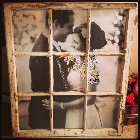 استفاده از پنجره های قدیمی به عنوان قاب عکس,استفاده از پنجره های قدیمی در دکوراسیون داخلی