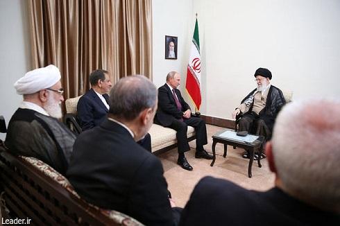 پوتین با رهبر انقلاب دیدار کرد+تصاویر