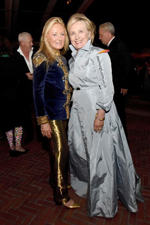 مدل لباس,مدل لباس در مراسم 50 سالگی برند رالف لورن,برند رالف لورن,جشن 50 سالگی برند رالف لورن,مدل لباس هیلاری کلینتون Hillary Clinton در مراسم 50 سالگی برند رالف لورن Ralph Lauren