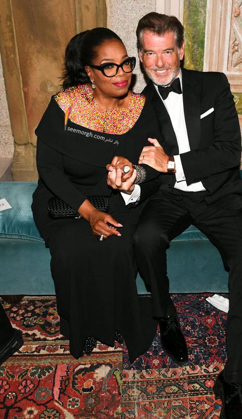 مدل لباس,مدل لباس در مراسم 50 سالگی برند رالف لورن,برند رالف لورن,جشن 50 سالگی برند رالف لورن,مدل لباس اپرا وینفری Oprah Winfrey در مراسم 50 سالگی برند رالف لورن Ralph Lauren