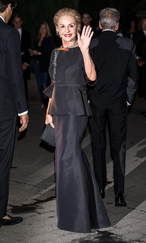مدل لباس,مدل لباس در مراسم 50 سالگی برند رالف لورن,برند رالف لورن,جشن 50 سالگی برند رالف لورن,مدل لباس کارولینا هررا Carolina Herrera در مراسم 50 سالگی برند رالف لورن Ralph Lauren
