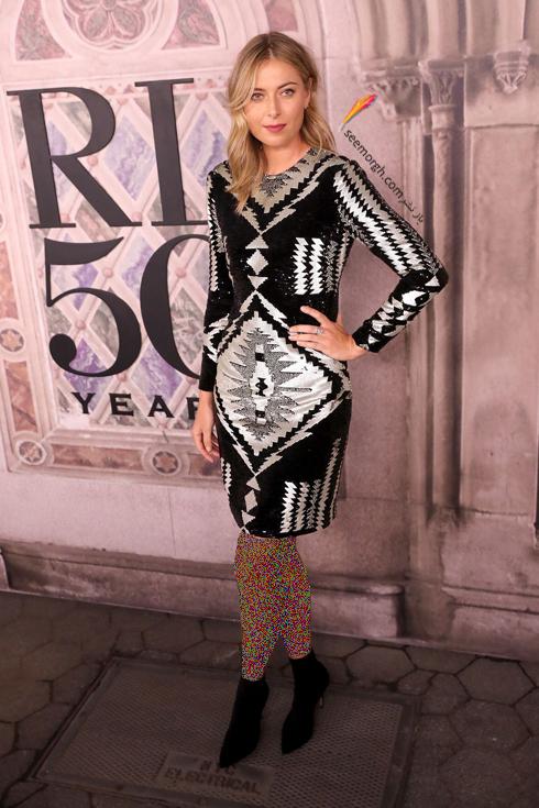 مدل لباس,مدل لباس در مراسم 50 سالگی برند رالف لورن,برند رالف لورن,جشن 50 سالگی برند رالف لورن,مدل لباس ماریا شاراپووا Maria Sharapova در مراسم 50 سالگی برند رالف لورن Ralph Lauren