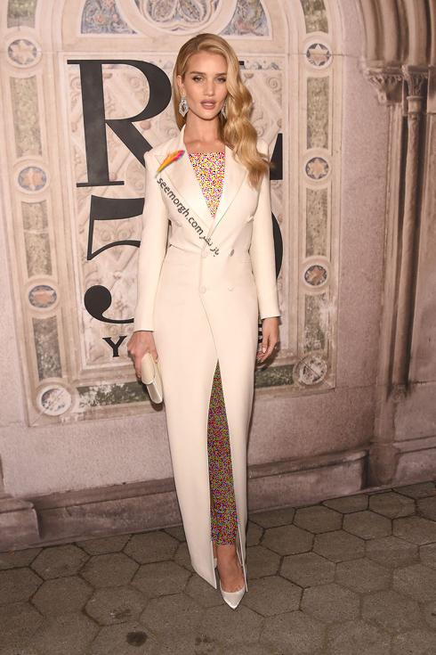 مدل لباس,مدل لباس در مراسم 50 سالگی برند رالف لورن,برند رالف لورن,جشن 50 سالگی برند رالف لورن,مدل لباس رزی هانتینگتون Rosie Huntington در مراسم 50 سالگی برند رالف لورن Ralph Lauren