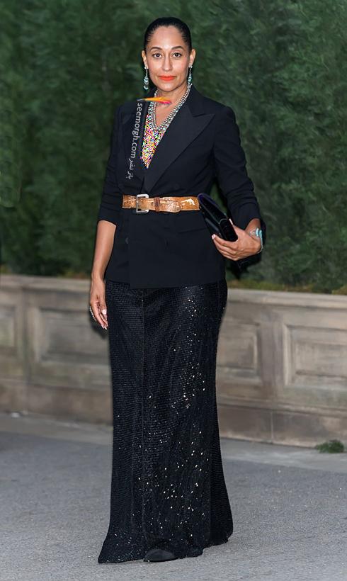 مدل لباس,مدل لباس در مراسم 50 سالگی برند رالف لورن,برند رالف لورن,جشن 50 سالگی برند رالف لورن,مدل لباس تریسی الیس روس Tracee Ellis Ross در مراسم 50 سالگی برند رالف لورن Ralph Lauren