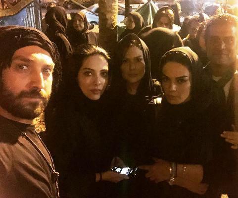 رز رضوی به همراه لیلا اوتادی و سارا خوئینی ها در هئیت خوزستانی ها