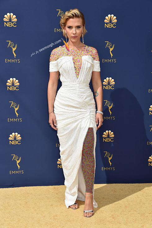 مدل لباس,مدل لباس در جوایز امی 2018,مدل لباس در جایزه امی 2018,بهترین مدل لباس در جایزه امی 2018,مدل لباس در جایزه امی  2018 Emmy - اسکارلت جوهانسون Escarlett Johansson