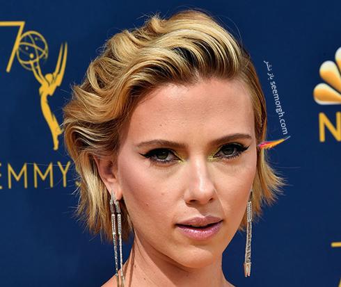 مدل مو,مدل مو در جوایز امی,مدل مو در جایزه امی,بهترین مدل مو,بهترین مدل مو در جوایز امی,مدل مو در جایزه امی  2018 Emmy - اسکارلت جوهانسون Scarlett Johansson