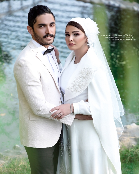 سیما خضرآبادی به همراه همسرش