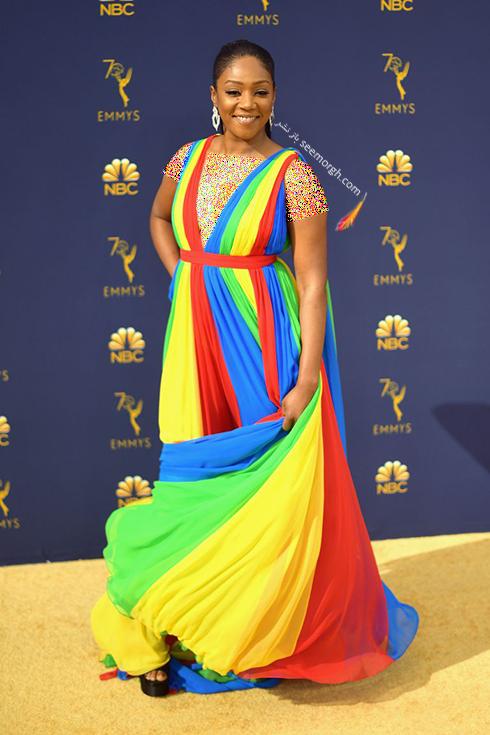 مدل لباس,مدل لباس در جوایز امی 2018,مدل لباس در جایزه امی 2018,بهترین مدل لباس در جایزه امی 2018,مدل لباس در جایزه امی  2018 Emmy - تیفانی هدیش Tiffany Haddish
