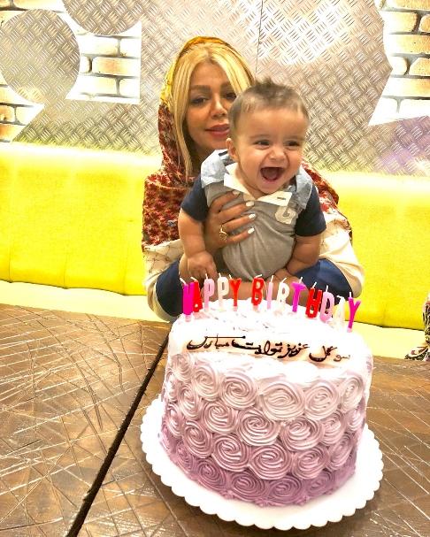 جشن تولد همسر وحید طالب لو