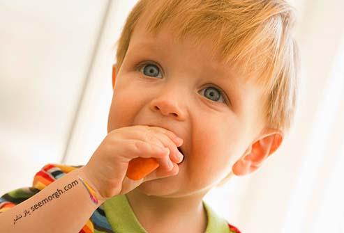 هویج خوردن کودک