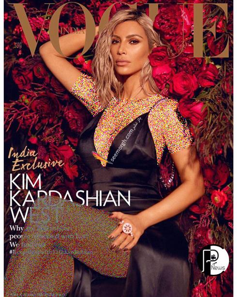 کیم کارداشیان,عکس های کیم کارداشیان روی مجله ووگ,جدیدترین عکس های کیم کارداشیان Kim Kardashian برای مجله وگ Vogue - عکس شماره 3