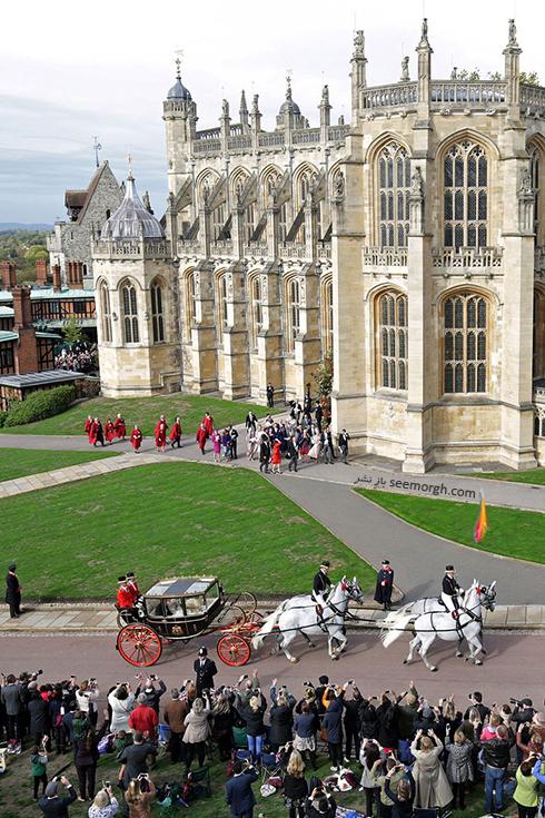 مراسم عروسی,مراسم عروسی نوه ملکه انگلیس,عکس هایی از مراسم عروسی نوه ملکه انگلیس,کلیسای محل برگزاری مراسم ازدواج پرنسس اوژنی Eugenie و جک بروکسبنک Jack Brooksbank