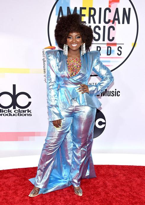 مدل لباس,بدترین مدل لباس,بدترین مدل لباس در جوایز موسیقی آمریکا,بدترین مدل لباس در American music awards 2018 - آمارا لا نگرا Amara La Negra