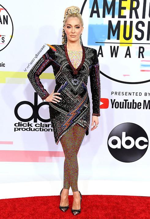 مدل لباس,بهترین مدل لباس,مدل لباس در جوایز موسیقی آمریکا,مدل لباس های برتر در American music awards 2018 - اریکا جاینی Erika Jayne