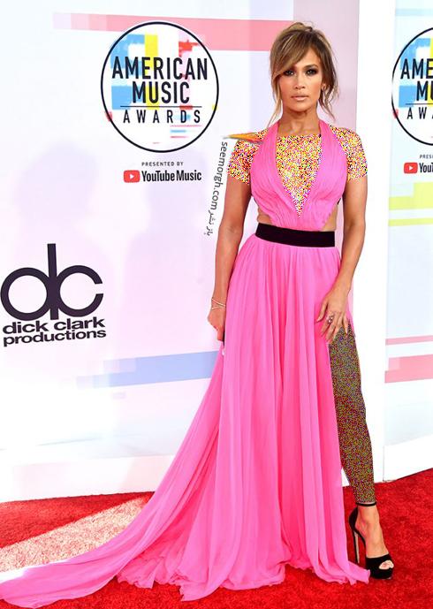 مدل لباس,بهترین مدل لباس,مدل لباس در جوایز موسیقی آمریکا,مدل لباس های برتر در American music awards 2018 - جنیفر لوپز Jennifer Lopez